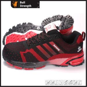 スポーツのゴム製足底(SN5402)が付いている革安全靴