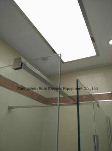 Chrome Chuveiro de alumínio de 8 mm da parede de vidro temperado revestimentos estanques de instrumentos de vidro chuveiro