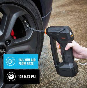 Inflador de neumáticos de coche portátil con el construido en la galga