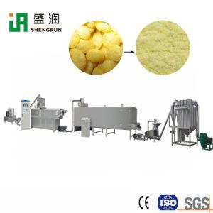 機械装置の生産ラインを作る赤ん坊の穀物の粉の朝食用食品