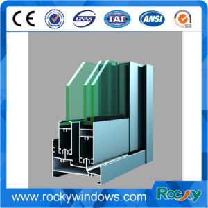 Revestimiento de polvo de cristal negro anodizado de perfiles de aluminio Doble Vidrio