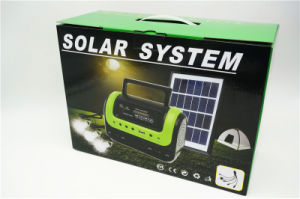 Casa Solar en el exterior de la luz de panel solar de radio FM Lámpara de Camping con 3W de la luz solar 0603