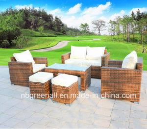 Design新しいModernのテラスRattanかWicker Leisure Outdoorの庭Sofa Furniture