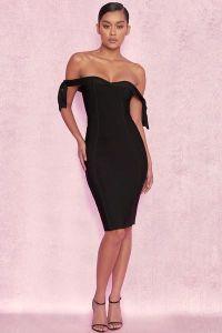 ストラップレスの黒い服の弓袖のセクシーなプロムの服およびパーティー向きのドレス