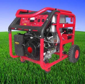 6.5KVA 13HP портативный источник питания электрической бензиновый генератор с помощью колеса