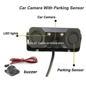 Ver el vídeo de la parte trasera del sensor de aparcamiento coche 3 en 1 y 2 de la cámara con sensor de alarma de Bibi