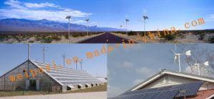 ホームまたは農場の使用の格子システムゲル電池12V200AHのための3kw風力の発電機システム