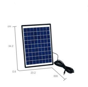 LEDライトが付いているLEDの太陽携帯用再充電可能なファン