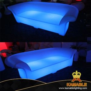 Mobiliário de LED da Vela Aquecedora plástico exterior sofá duplo (H013)