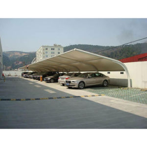 Resistencia de la membrana de PVDF Parking Estructura de acero