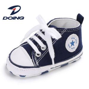 Baratos lienzo personalizado lindo bebé niño Prewalker Casual Sport Anti-Skid entrenador suave zapatos