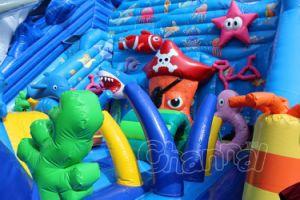 Ocean World juegos inflables gigantes/obstáculo inflable con tobogán Chob549