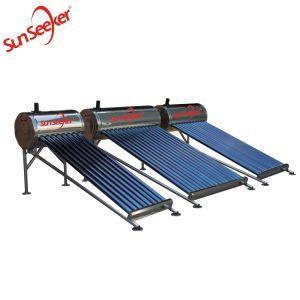 Nouveau design avec châssis ronde chauffe-eau solaire
