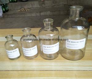 Ins Narrow-Mouth Style Vase en verre avec Brown et le verre clair