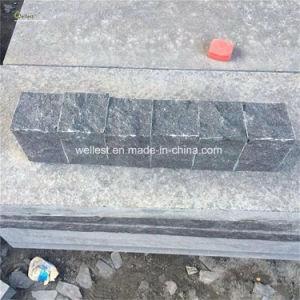 G684舗装のための黒い花こう岩の立方体の石、私道のための玉石の石