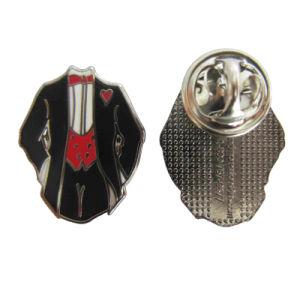 Distintivo promozionale dell'aquila del metallo molle su ordinazione dello smalto di fabbricazione della fabbrica con epossidico (003)