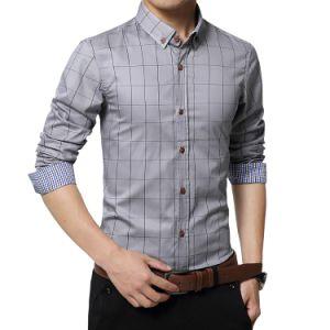 Высокое качество и мягкий длинной втулки рубашку для мужчины