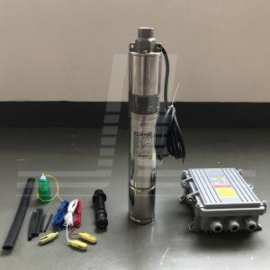 1HP 3pol Furo artesiano submersíveis Solar Bomba, Bomba de poço fundo Solar