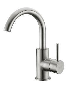 ステンレス鋼の洗面器の流しのミキサー