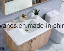 La moda de acero inoxidable de madera moderno cuarto de baño Sanitarios Gabinete de la vanidad como-1109