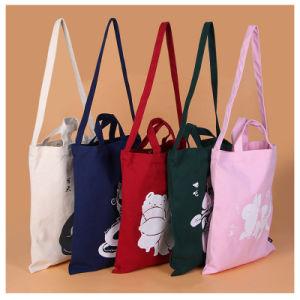 Venda por grosso de Compras reutilizável sacola de ombro Saco de lona, Publicidade de Embalagem, promocional reciclar equipamento para praia Saco de algodão para roupa suja