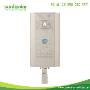 動きセンサーが付いている20With30With40Wのオールインワンか統合された屋外LEDの太陽通りの庭ライト