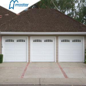 Automático personalizado de acero con aislamiento de la elevación vertical de puerta de garaje seccionales de techo