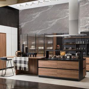Laca mate color madera natural libre de mango de gabinetes de cocina