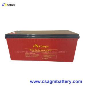 Batterij 12V200ah van het Gel van de Cyclus van het Onderhoud van Cspower de Vrije Diepe Zonne