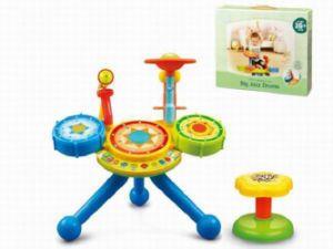子供のプラスチック教育大きいジャズは赤ん坊のおもちゃをドラムをたたく