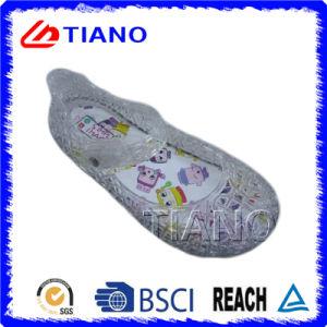 Прозрачная сандалия детей PVC Adn холодная напольная (TNK35810)