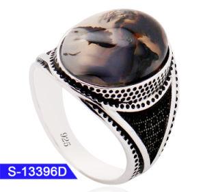Venda por grosso Novo Modelo banho turco e estilo árabe 925 Sterling Silver Jóias de Pedra Islâmica Ring para homens