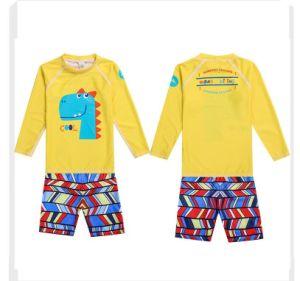 Imprimer Haut de maillots de bain cou UV fille Kids zipper un patchwork de maillots de bain Maillot de bain