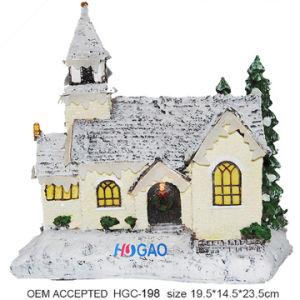 Het Huis van het Koekje van de Vakantie van Kerstmis van de hars met Verlichting