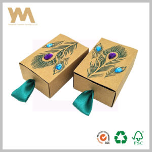 Cajón de papel Kraft Caja de regalo dulces pequeñas Embalaje