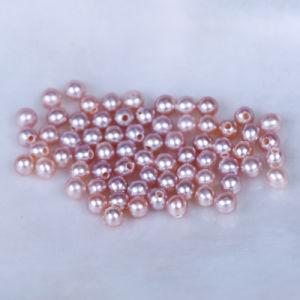 La Ronda de perlas cultivadas de agua dulce de pera suelta perlas