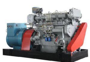 海兵隊員海水の冷却装置が付いている120 KVAのディーゼル発電機