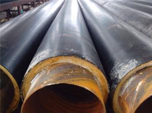 Erhitzenund abkühlende beständiges HDPE überzogene Polyurethan-Schaumgummi-Einspritzung-Schaumgummi-Rohr-Isolierung
