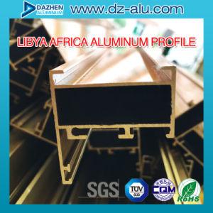 Profilo di alluminio dell'espulsione della Liberia per il bronzo di Champagne anodizzato portello della finestra