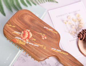 Pente de madeira artesanais para uso doméstico com a fragrância Salão