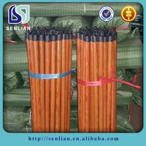 Prezzo basso del manico per scope di legno rivestito all'ingrosso del PVC per pulizia del giardino