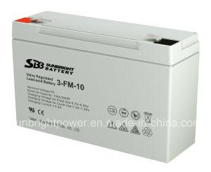 6V10AH piccola dimensione Scooter batteria con CE RoHS UL