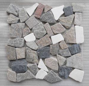 De natuurlijke Decoratieve Tegel van het Mozaïek van de Lei voor Muur en Bevloering