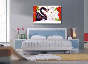 Stampa astratta della tela di canapa, stampa domestica della tela di canapa dell'olio della decorazione
