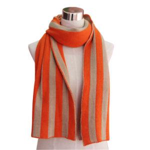 Acrylic Knitted Fashion Striped女性スカーフ(YKY4195)