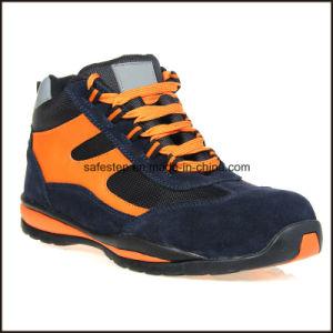 Ligera de cuero auténtico Damas Zapatos de seguridad EN20345