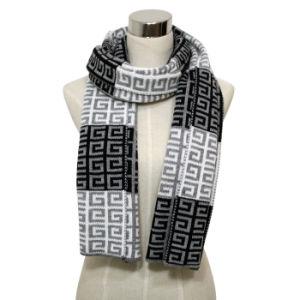 人の方法Pashminaのアクリルの編まれた冬のスカーフ(YKY4358)
