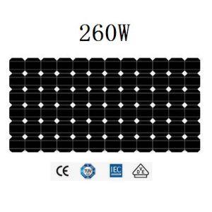 260Wモノクリスタル太陽電池パネル(JHM260M-72)