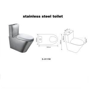Edelstahl-Toilette (9111W)