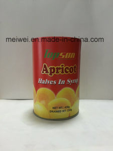 軽いシロップの425gによって缶詰にされる杏子